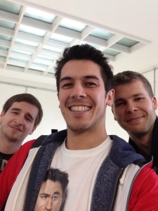 From left to right: David Docherty, Louis King and Jaanus Unt